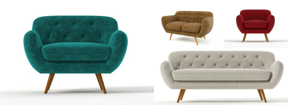 <b> Editor&#8217;s Pick: </b> Curvy 1950s-inspired sofas and armchairs